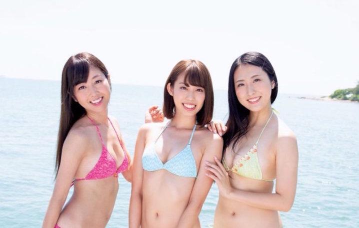 沙倉しずか、山岸奈津美、阿南萌花(ミスFLASH2019グランプリの3名)