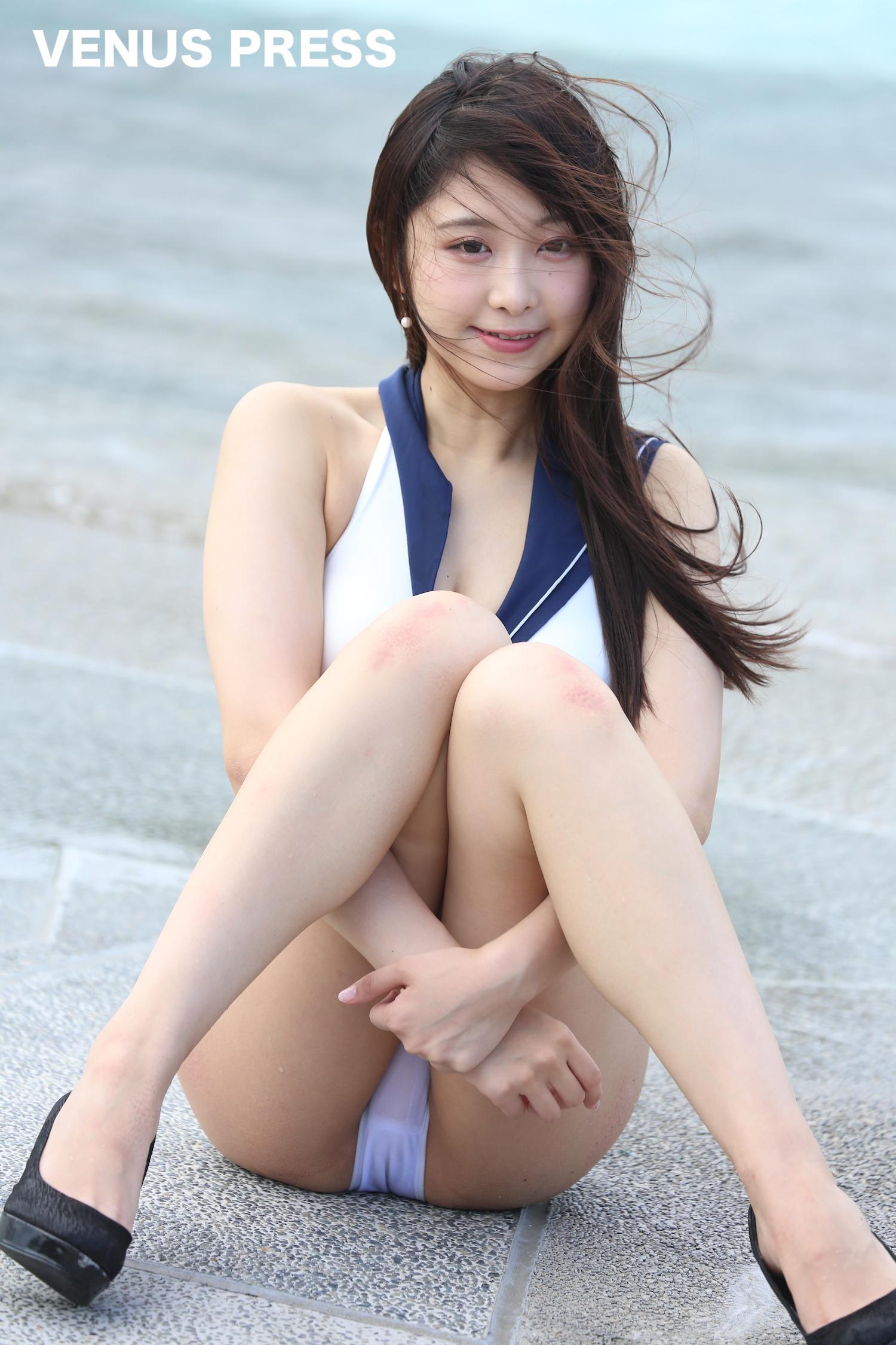 真島なおみ(2019年9月23日、大磯ロングビーチにて/撮影:VENUS PRESS編集部)