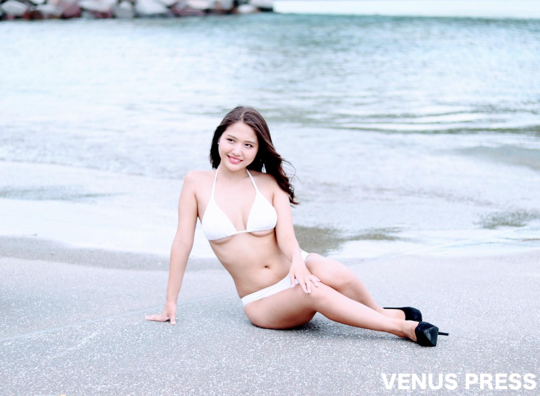 水咲優美(2019年9月23日、大磯ロングビーチにて/撮影:VENUS PRESS編集部)